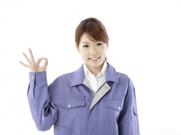 女性作業服2